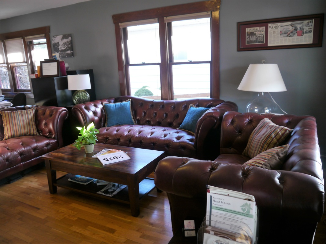 Sample Therapy Services comfortable, home-like waiting room